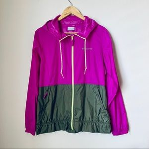 COLUMBIA- Active color blocking wind breaker